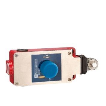 Łącznik bezp. cięgn. XY2 CH, 1NC+1NO, przycisk z główką grzybkową XY2CH13350