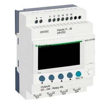 Przekaźnik programowalny 24V DC 6we 4wy Zelio Logic SR2A101BD