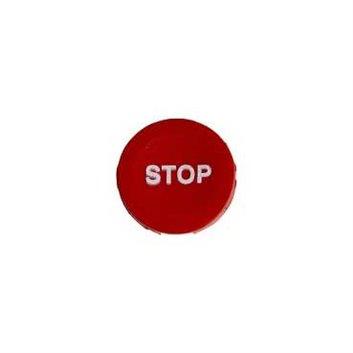 Wkładka do przycisku 16mm płaska czerwona STOP ZB6YA441