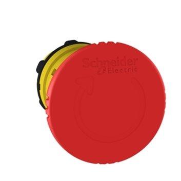Napęd przycisku bezpieczeństwa czerwony przez obrót bez podświetlenia ZB5AS844