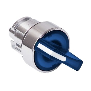Napęd przełącznika 2 położeniowy niebieski z podświetleniem bez samopowrotu ZB4BK1263