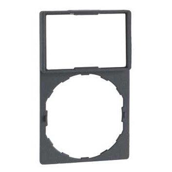 Szyld opisowy 30x50mm z etykietą biały/żółty 22mm czarny prostokątny ZBY6102
