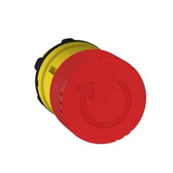 Napęd przycisku grzybkowego czerwony przez obrót ZB5AS834