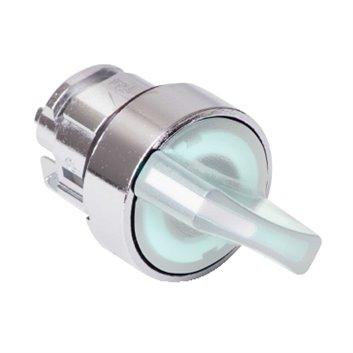Napęd przełącznika 2 położeniowy biały z podświetleniem bez samopowrotu ZB4BK1213