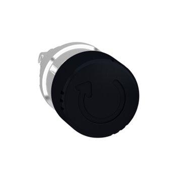 Główka przycisku grzybk. O22 zat. awar. czarna O30mm -z blok. odrygl. przez obrót ZB4BS42