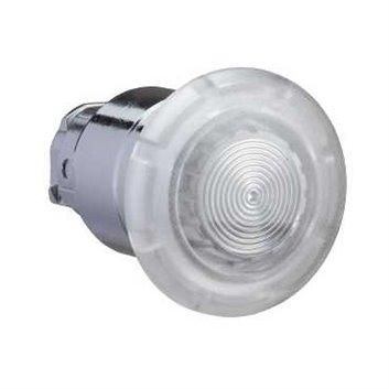 Napęd podświetlany przycicku grzybkowego O22 zat. awar. biała O40 z sam. powr. zinteg.LED ZB4BW413