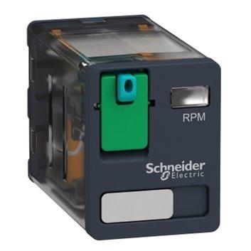 Przekaźnik mocy wtykowy, Zelio RPM, 2 styki przełączne, 24 V DC RPM21BD