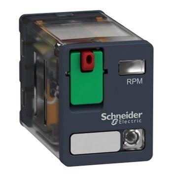 Przekaźnik mocy wtykowy, Zelio RPM, 2 styki przełączne, 24 V AC, dioda LED RPM22B7