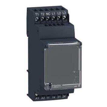 Przekaźnik kontroli nap. silnika i temp.- RM35-T, 24...240 V AC/DC, 2 NO RM35TM50MW