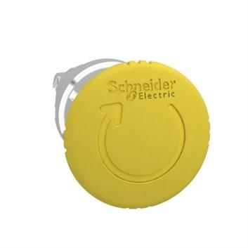 Napęd przycisku grzybkowego żółty przez obrót bez podświetlenia ZB4BS55