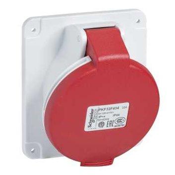 Gniazdo stałe 5P 32A 400V czerwone IP44 PKF32F435