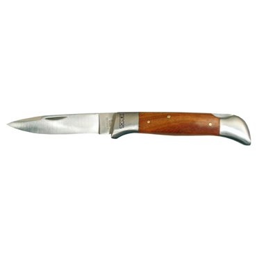 Nóż uniwersalny ostrze 85mm blokada ostrza drewniane okładki składany 98Z019