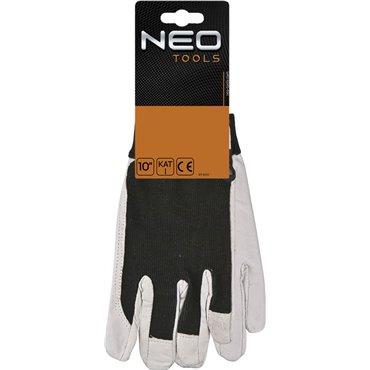 Rękawice robocze skóra świńska licowa z rzepem rozmiar 10 97-603