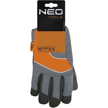 Rękawice robocze skóra syntetyczna wstawki PCV rozmiar 10 97-605