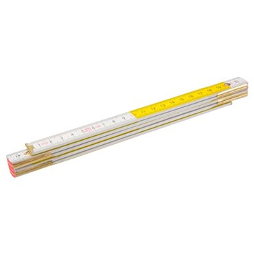 Miara składana drewniana 1 m biało-żółta 26C005
