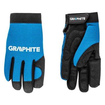 Rękawice robocze 10 skóra syntetyczna i elastyczna tkanina CE 97G100