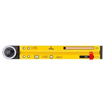 Kątomierz nastawny z poziomicą 500mm 2 libelle ołówek 30C321