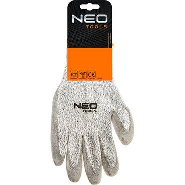 Rękawice antyprzecięciowe pokryte PU poziom ochrony przed przecięciem 5 (najwyższy) 10cala CE 97-609
