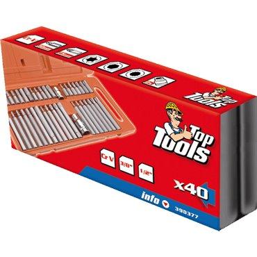 Końcówki wkrętakowe Spline Torx sześciokątne zestaw 40 elementów 39D377