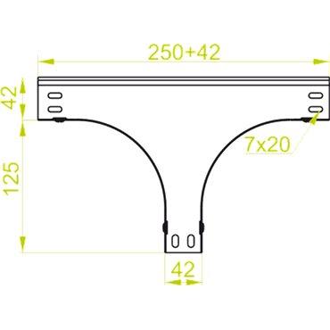 Trójnik redukcyjny symetryczny TRSBJ150H50 155703