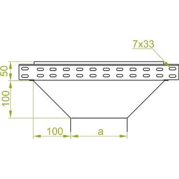 Trójnik redukcyjny 300x50mm TRBJ300H50 156001