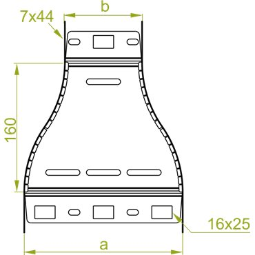 Redukcja symetryczna RKSFJ300/200H60 166012