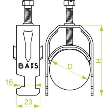 Uchwyt kablowy zaczepowy UK1/ 52-58 402850