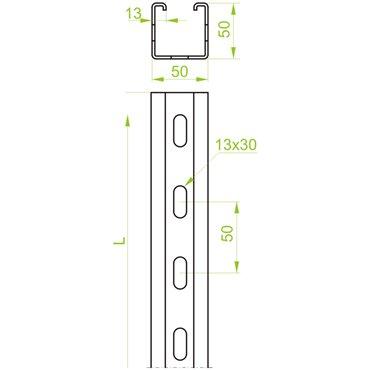 Ceownik montażowy 50x50 CMC50H50/3 616830 /3m/