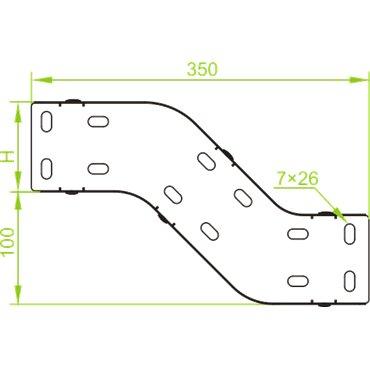 Obejście pionowe 100x80mm OPNJ100H80 183910