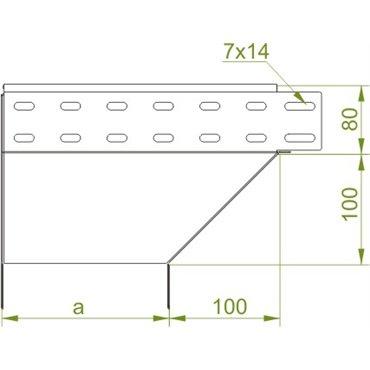 Kolanko redukcyjne lewe 80x100mm KRLJ100H80 184110