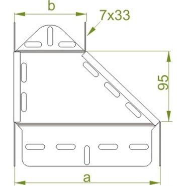 Redukcja korytka lewa 150/100x50mm RKLJ150/100H50 159015