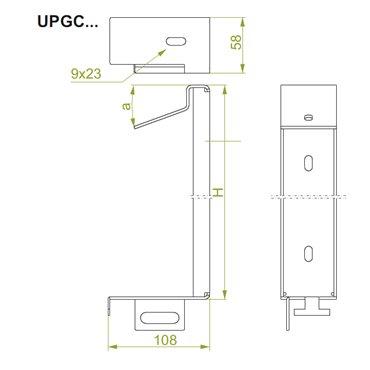 Uchwyt panela prawy UPP10 897010