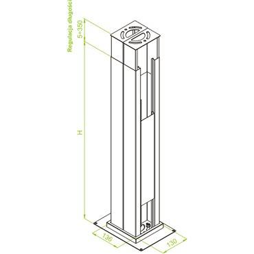 Słupek instalacyjny typ SPI 2650 911017