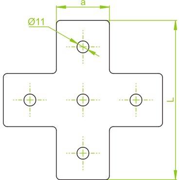 Łącznik ceownika LCP7 662700