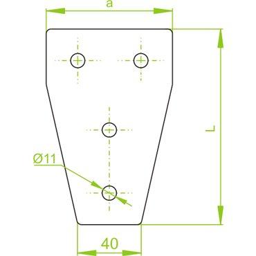 Łącznik ceownika LCP11 663100