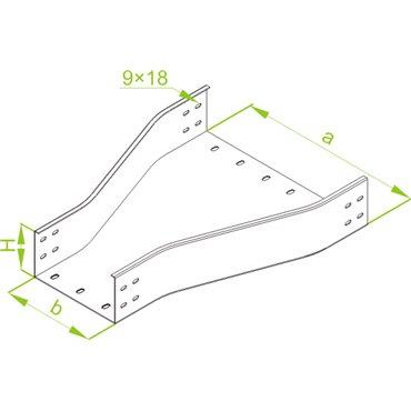 Redukcja korytka 200mm 100mm 100mm RKZC200/100H100 312520