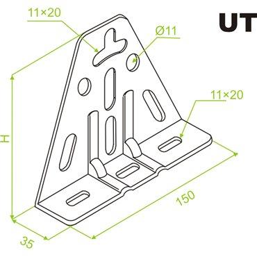 Uchwyt trójkątny UT 751600
