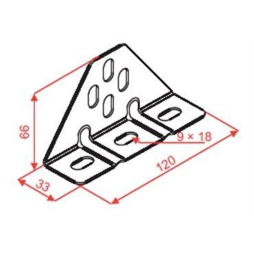 Uchwyt trójkątny UTM 751700