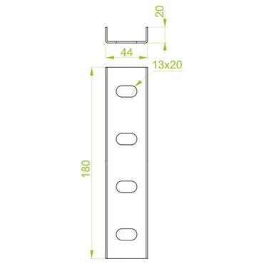 Łącznik ceownika LC40H20 660500