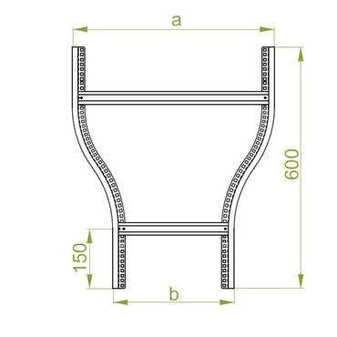 Redukcja drabinki symetryczna typ RDSC400/300H50N 457940