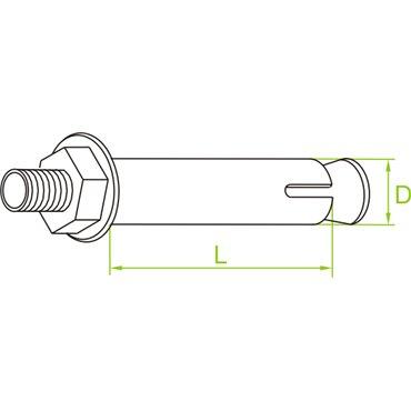 Śruba tulejowa rozporowa typ STR M6/10X60 650137