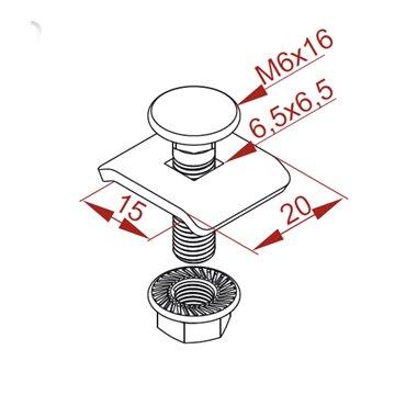 Zacisk śrubowy ZS 901600 /20szt./