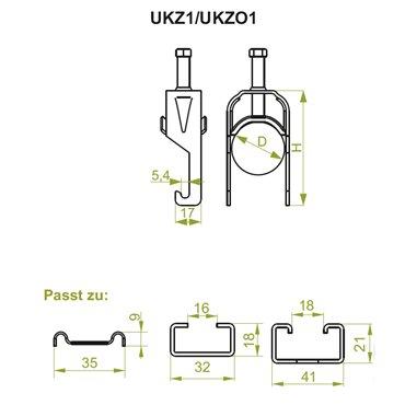 Uchwyt kablowy zaczepowy UKZ1 40-46 401300