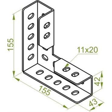 Łącznik wzmocniony LWK90 661301