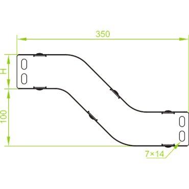 Obejście pionowe cynkowane pełne 100x60mm 1,5mm OPNBP100H60 163304