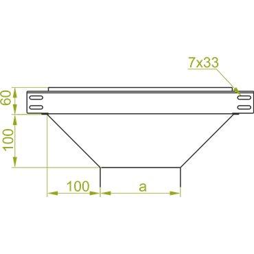 Trójnik korytka TRBJ400H60 165401