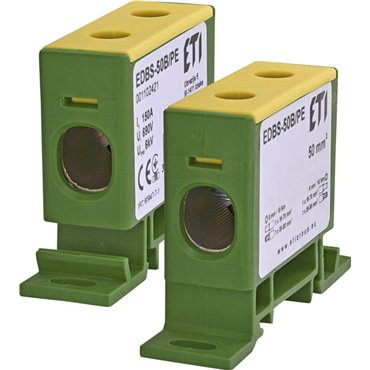 Zacisk 1-torowy na szynę TH EDBS-50B/PE 150A 690V 001102421