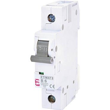 Wyłącznik nadprądowy 1P B 6A 6kA AC ETIMAT 6 002111512