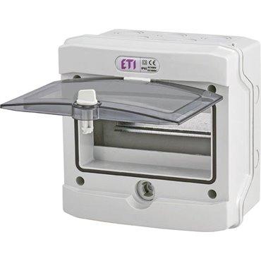 Rozdzielnica modułowa 1x8 natynkowa /transparentna/ IP65 ECH-8G DIDO 001101061