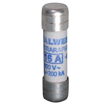 Wkładka bezpiecznikowa cylindryczna 10x38mm 25A aR 600V CH10UQ 002625013
